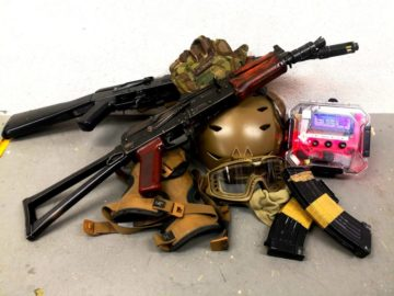 a pile of gear