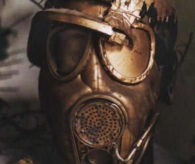 a broken mask